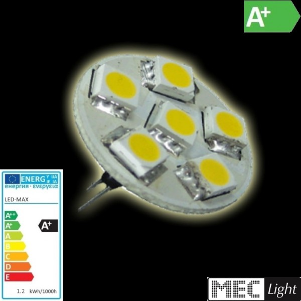 G4 LED Stiftsockel 6x SMD Leds GU4 65Lm warm weiß (back pin)