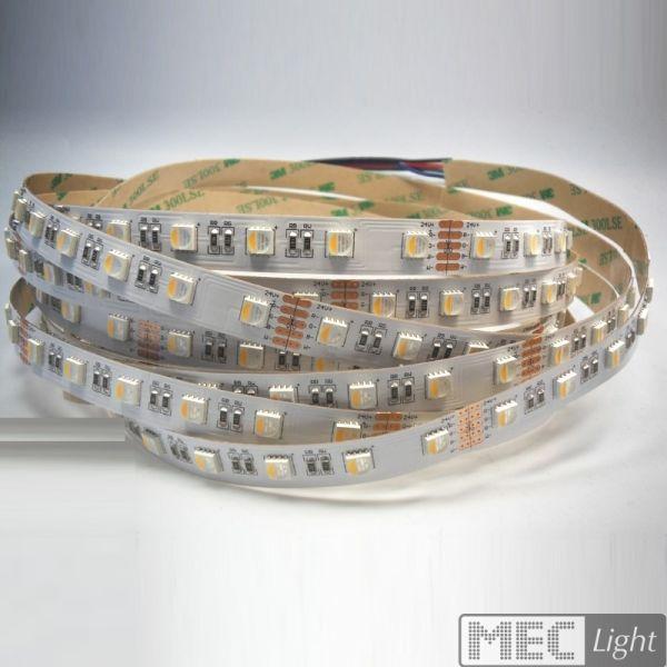 1m RGBNW Streifen 24V 14W 800Lm 60x 4 Chip SMDs/m RGB-W pur weiß 4000K IP20