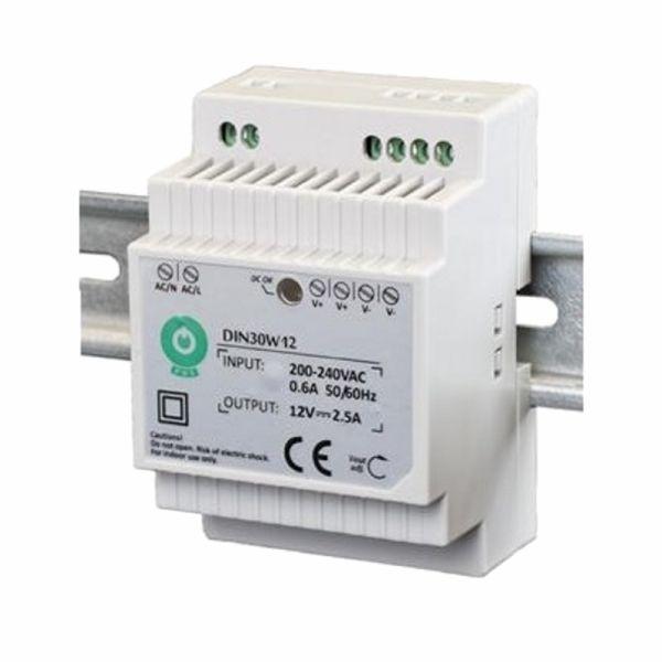 Hutschienen LED Trafo SMD Netzteil 12V/DC 30W 2,5A (DIN30W12)