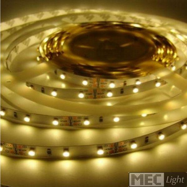 1m LED Streifen 12V 6W 510Lm 60x SMD2835/m warm weiß (3000K) Stripe IP20