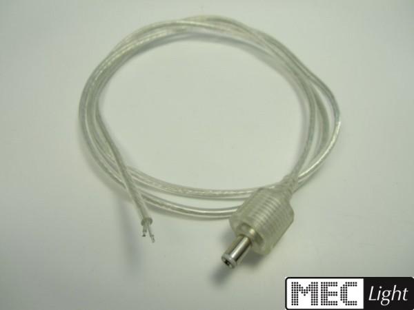 1m Anschlußkabel + männl. 2,1mm Stecker für Superflux LED Leisten starr 1 Meter