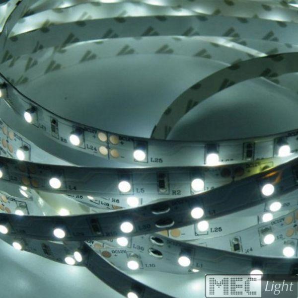 1m LED Streifen 12V 6W 510Lm 60x SMD2835/m kalt weiß (6000K) Stripe IP20