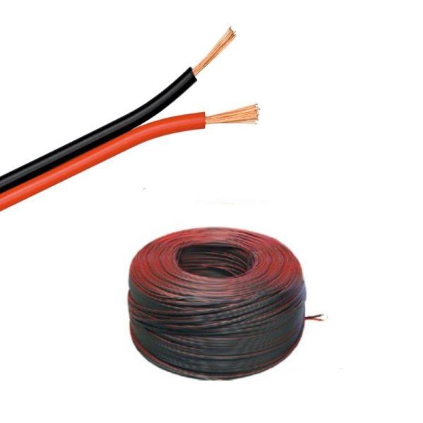(0,49€/m)5-100m LED Kabel Zwillingslitze 2x 0,50mm² weiß 2 adrig 100% Kupfer