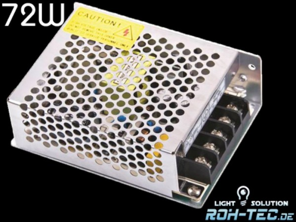 LED Trafo Netzteil 12V/DC / 72W / 6A MEANWELL (RS-75-12) Power Supply