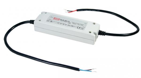 LED Trafo Netzteil 30W / 1,25A 24V/DC wasserfest MEAN WELL (PLN-30-24) MM IP64