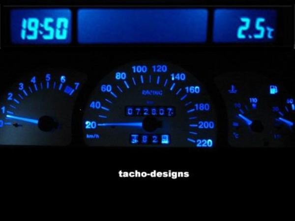 Blauer Tacho + MID Display Opel Astra F Vectra A PnP (Tachobeleuchtung Blau)