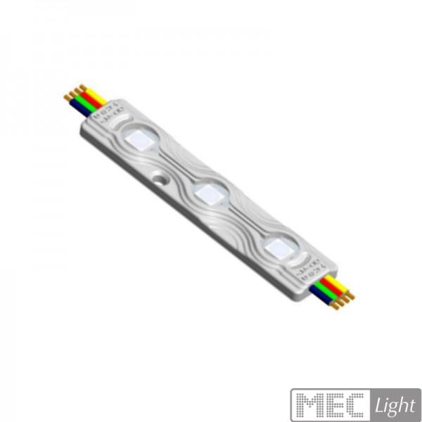 RGB Modul mit 3x1 RGB LED 12V/DC 0,72W 120° wasserfest IP67