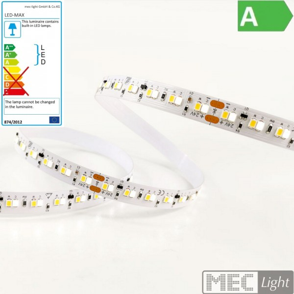 1m Led CCT Streifen 224x SMD2216/m 24V 18W 1700Lm/m dim to warm 2700-4500K IP66