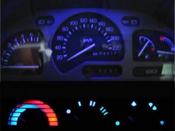 Blauer Tacho + Heizung Escort MK5/MK6 Puma (Tachobeleuchtung Lüftung Blau)
