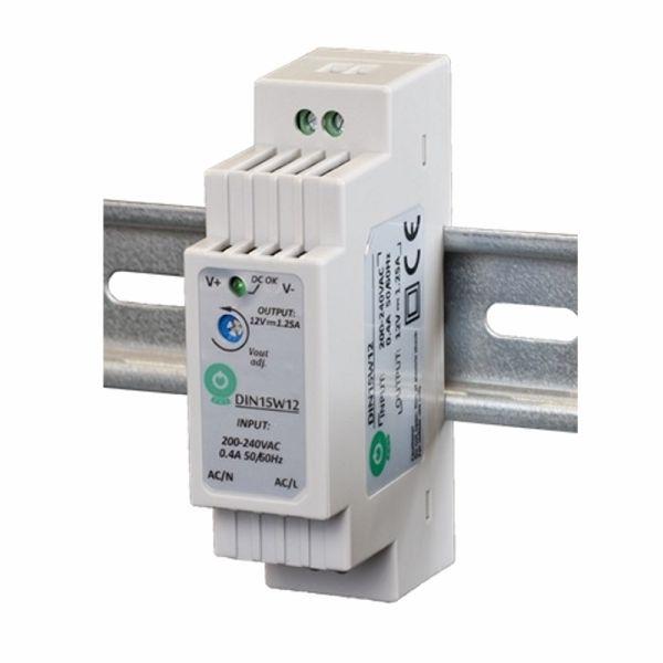 Hutschienen LED Trafo SMD Netzteil 12V/DC 15W 1,25A (DIN15W12)