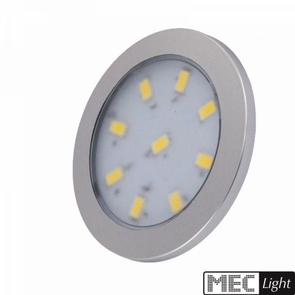 LED AUFBAU Möbel /Unterbauleuchte ORBIT XL silber warm weiß (3000k) 12V/3W