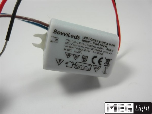 3W LED Netzteil LED Trafo 700mA Konstantstrom für 3W LED