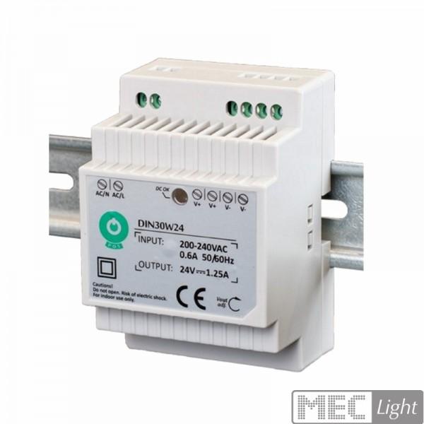 Hutschienen LED Trafo SMD Netzteil 24V/DC 30W 1,25A (DIN30W24)