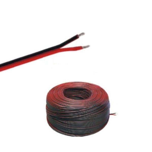 (0,69€/m)5-100m LED Kabel Zwillingslitze 2x 2,50mm² rot/schwarz 2 adrig Länge