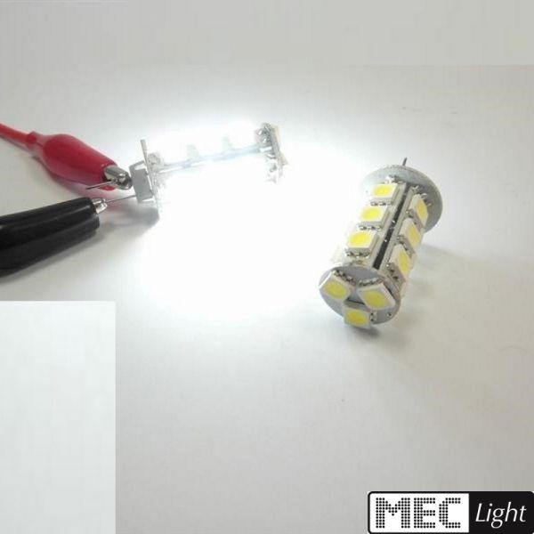 G4 LED Stiftsockel Zylinder 18x 3 Chip SMDs 288Lm 3,8W 10-30V/DC weiß