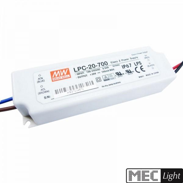LED Netzteil Trafo 700mA Konstantstrom 33W 9-48V DC MEANWELL (LPC-35-700) IP67